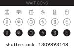 wait icons set. collection of... | Shutterstock .eps vector #1309893148