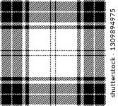 black and white tartan plaid.... | Shutterstock .eps vector #1309894975
