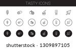 tasty icons set. collection of... | Shutterstock .eps vector #1309897105