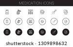 medication icons set.... | Shutterstock .eps vector #1309898632