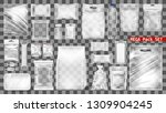 mega transparent empty plastic... | Shutterstock .eps vector #1309904245