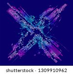 abstract vector background dot... | Shutterstock .eps vector #1309910962