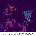 abstract vector background dot... | Shutterstock .eps vector #1309910965
