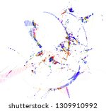 abstract vector background dot... | Shutterstock .eps vector #1309910992