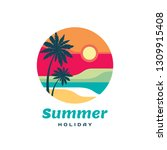 summer holiday concept business ... | Shutterstock .eps vector #1309915408