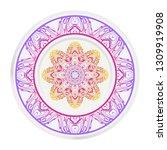 mandala floral ornament.... | Shutterstock .eps vector #1309919908