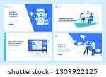 set of creative website... | Shutterstock .eps vector #1309922125
