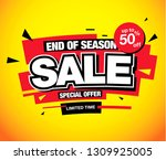 sale banner layout design | Shutterstock .eps vector #1309925005