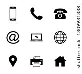contact us icons. web icon set. ... | Shutterstock .eps vector #1309931338