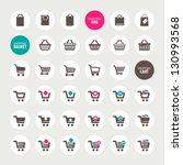 set of shopping cart  basket... | Shutterstock .eps vector #130993568