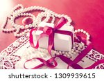 valentine's day  gift box with... | Shutterstock . vector #1309939615