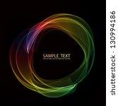 abstract color smoke circle.... | Shutterstock .eps vector #130994186