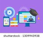 online seminar  webinar ... | Shutterstock .eps vector #1309943938