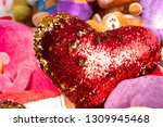color changing heart love shape ... | Shutterstock . vector #1309945468