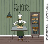 vector illustration. the chef... | Shutterstock .eps vector #1309946518