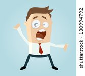 funny cartoon man is shouting | Shutterstock .eps vector #130994792