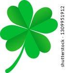 beautiful four leaf clover... | Shutterstock .eps vector #1309951912