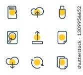 vector illustration of 9 memory ... | Shutterstock .eps vector #1309956652