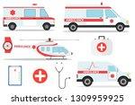 ambulance car vector emergency... | Shutterstock .eps vector #1309959925