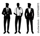 wedding men s suit and tuxedo.... | Shutterstock .eps vector #1309968895