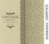 invitation cards in an vintage... | Shutterstock .eps vector #130997372