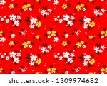 floral pattern. pretty flowers... | Shutterstock .eps vector #1309974682