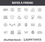 set of 24 refer a friend icons... | Shutterstock .eps vector #1309974955