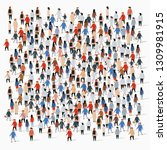 large group of people on white... | Shutterstock .eps vector #1309981915