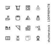 editable 16 linen icons for web ... | Shutterstock .eps vector #1309989478