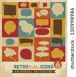 retro speech bubbles set.vector | Shutterstock .eps vector #130998986