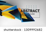 3d geometric triangular shapes...   Shutterstock .eps vector #1309992682