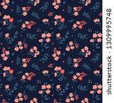 elegant floral pattern in small ...   Shutterstock .eps vector #1309995748