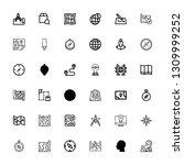 editable 36 cartography icons...   Shutterstock .eps vector #1309999252