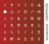 editable 36 flora icons for web ... | Shutterstock .eps vector #1309999258