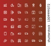editable 36 deliver icons for... | Shutterstock .eps vector #1309999372