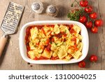 ravioli with tomato sauce | Shutterstock . vector #1310004025