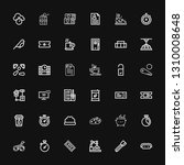 editable 36 elements icons for... | Shutterstock .eps vector #1310008648