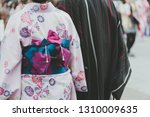 young girl wearing japanese... | Shutterstock . vector #1310009635