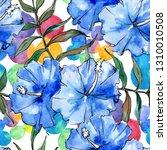 blue exotic tropical hawaiian...   Shutterstock . vector #1310010508