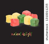 lukum natural. oriental sweets  ... | Shutterstock .eps vector #1310011255