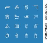 editable 16 bathroom icons for... | Shutterstock .eps vector #1310020522