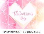 valentines day background... | Shutterstock .eps vector #1310025118