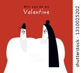 character for valentines day... | Shutterstock .eps vector #1310025202