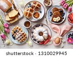 easter festive dessert table... | Shutterstock . vector #1310029945