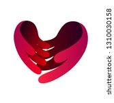 love hand care symbol vector   Shutterstock .eps vector #1310030158