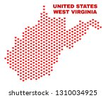 mosaic west virginia state map... | Shutterstock .eps vector #1310034925