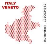 mosaic veneto region map of...   Shutterstock .eps vector #1310034952