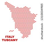 mosaic tuscany region map of... | Shutterstock .eps vector #1310034985