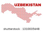 mosaic uzbekistan map of... | Shutterstock .eps vector #1310035648
