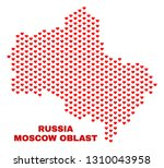 mosaic moscow region map of... | Shutterstock .eps vector #1310043958